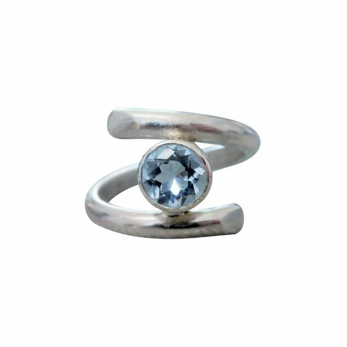 Sterling Silver & Aquamarine Opulence Ring
