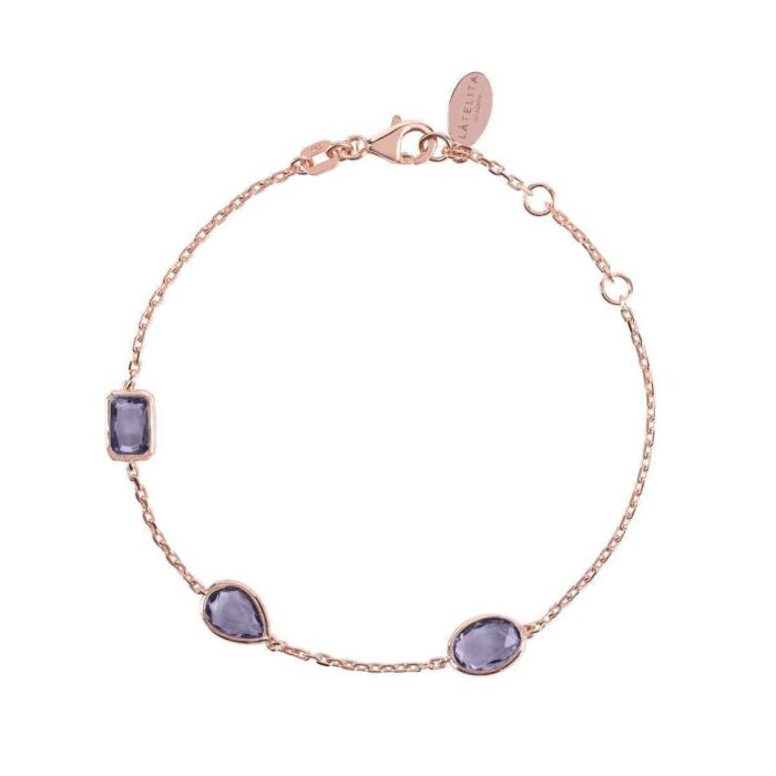 Venice Bracelet Rose Gold Amethyst