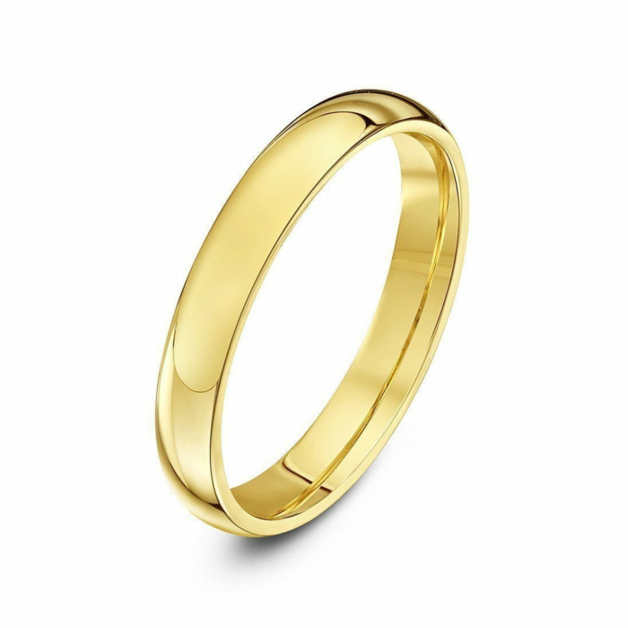 18kt Yellow Gold Court-Shape Extra Heavy Wedding Ring