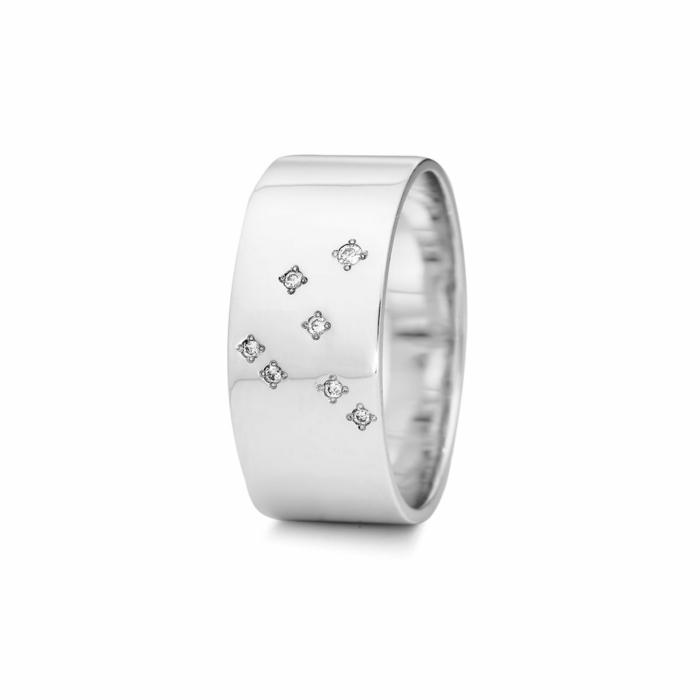 Sterling Silver Capricorn Zodiac Constellation Ring