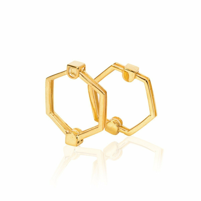 The Gold Hexagon Ring