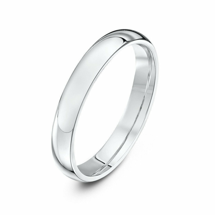 9kt White Gold Extra Heavy Court-Shape Wedding Ring