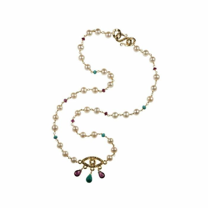 18kt Gold Evil Eye Necklace