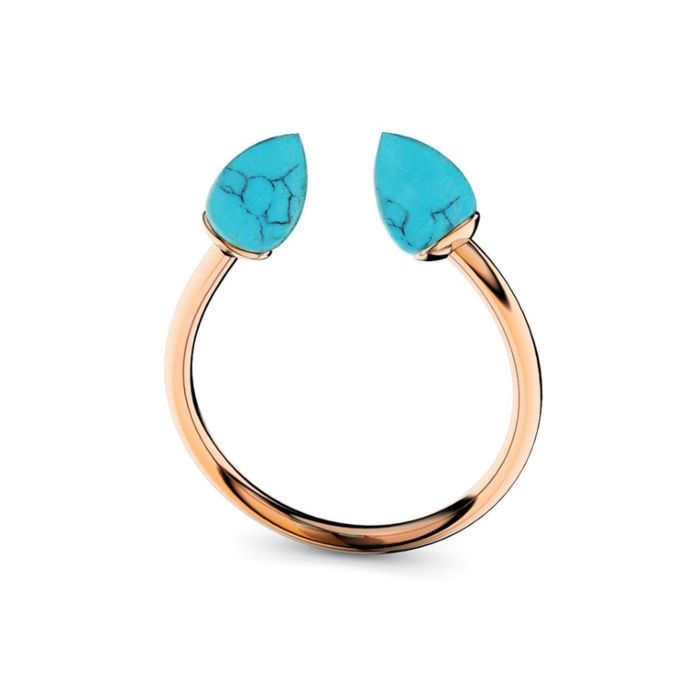 Rose Gold & Turquoise Ring