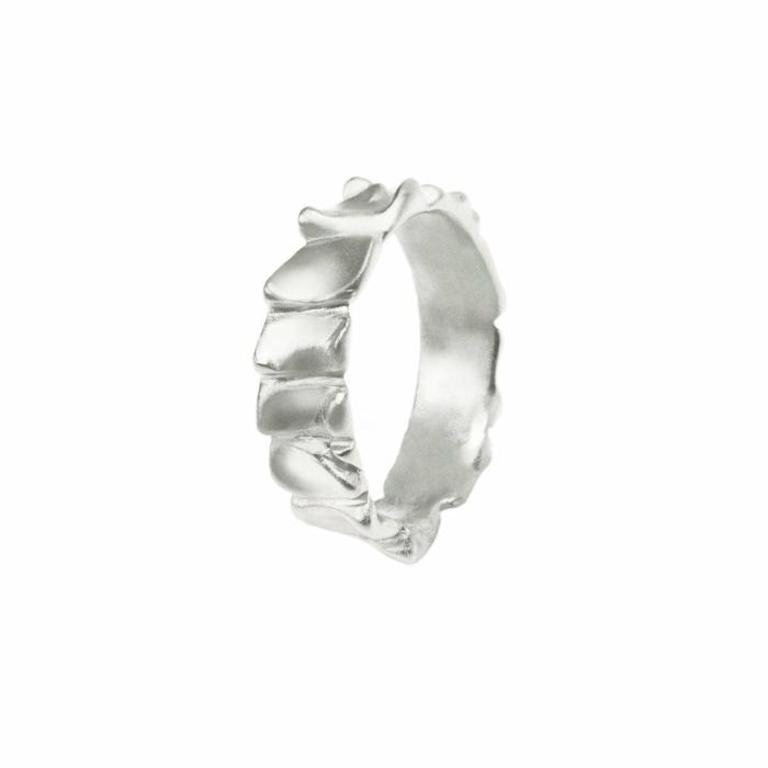 Gator Stack Ring White Gold
