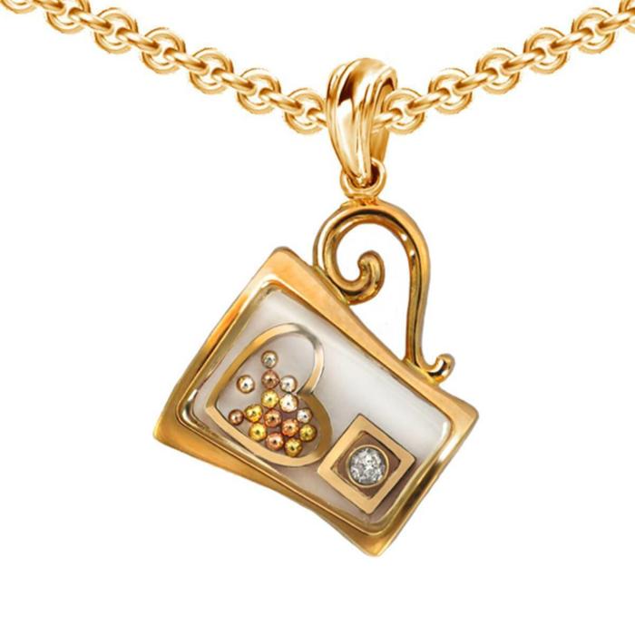 Gold & Diamond Mug Secret Pendant | Chekotin Jewellery