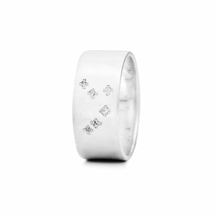 Sterling Silver Aries Zodiac Constellation Ring