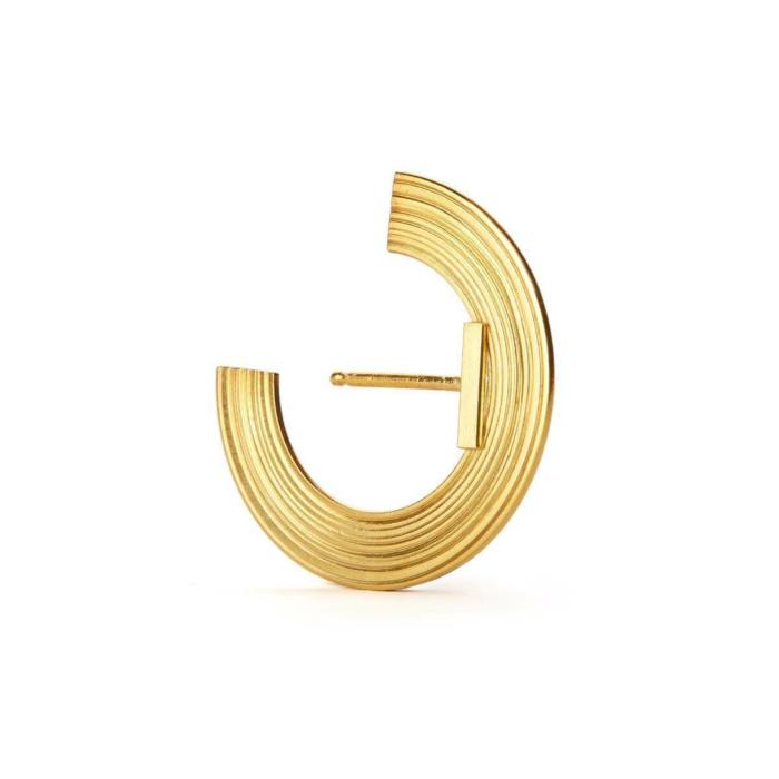 Gold Plated Silver Orbit Small Radius Lobe Earrings