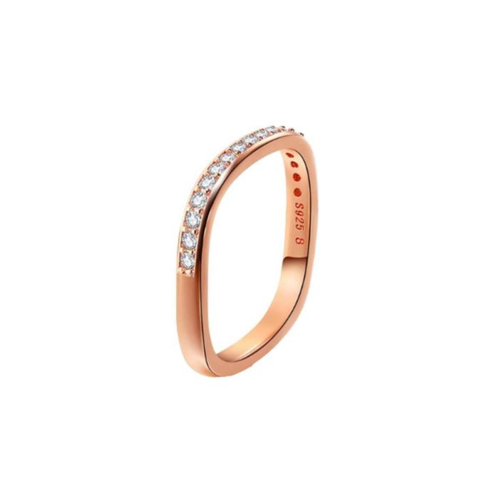 Rose Gold Vermeil Paved Stacking Ring