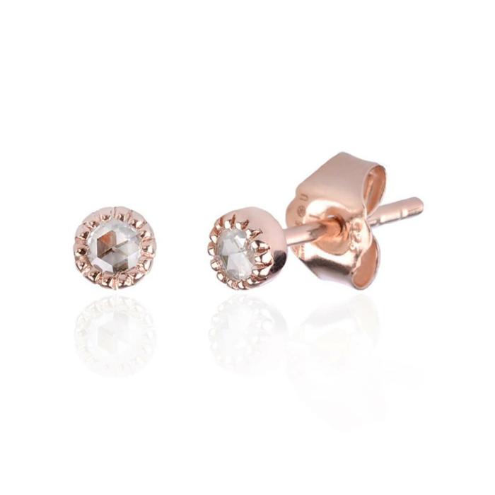 Bijou Diamond Earrings Rose Gold