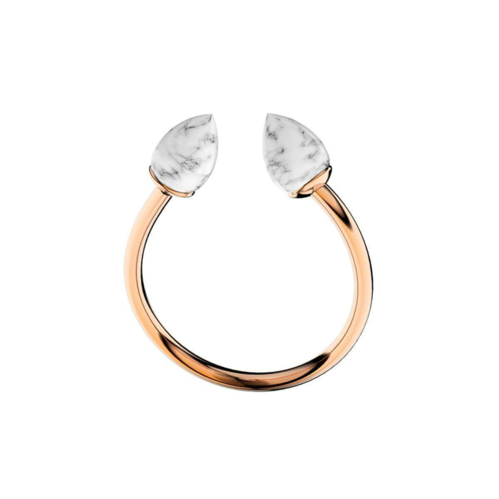 Marble Rose Gold Ring