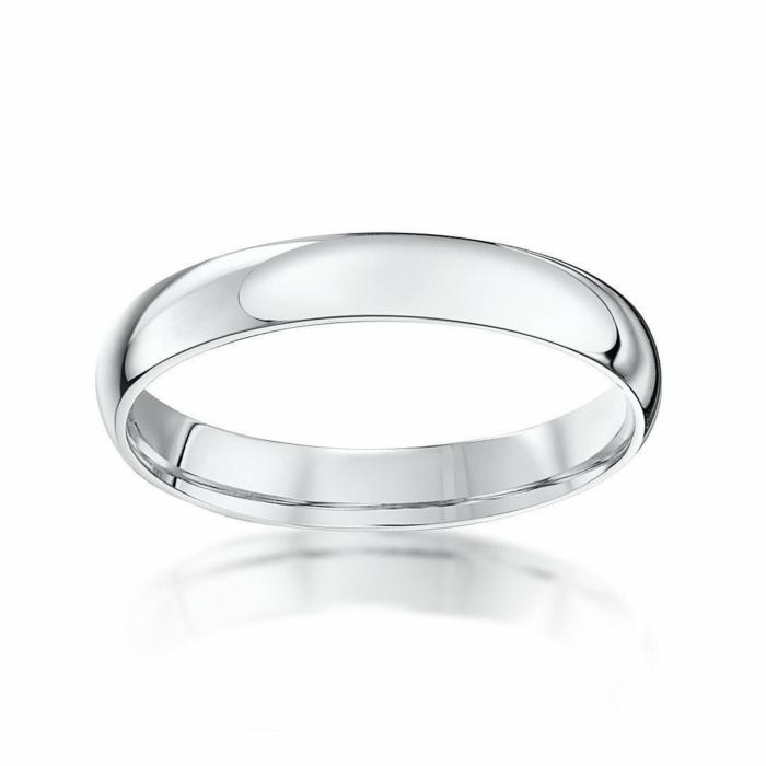 18kt White Gold Court-Shape Wedding Ring
