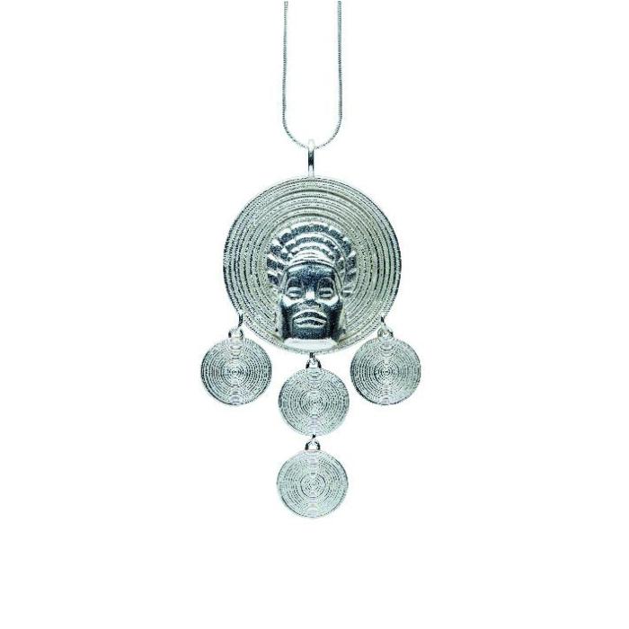 Sterling Silver Mangbetu Pendant