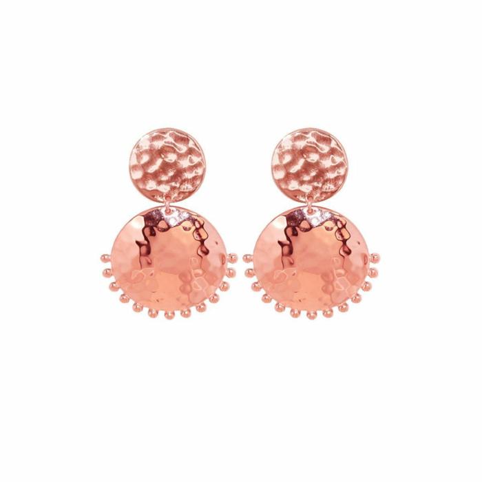 Rose Gold Tribal Stud Earring