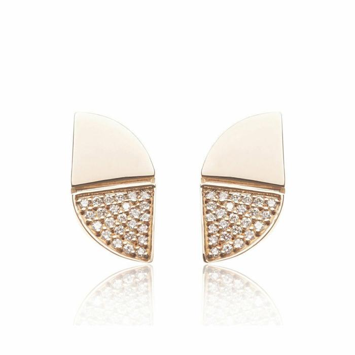 Rose Gold Glamorous Diamond Earrings