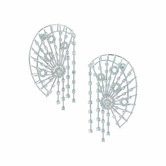 White Gold & Diamond East Collection Ear Cuffs | Pinomanna