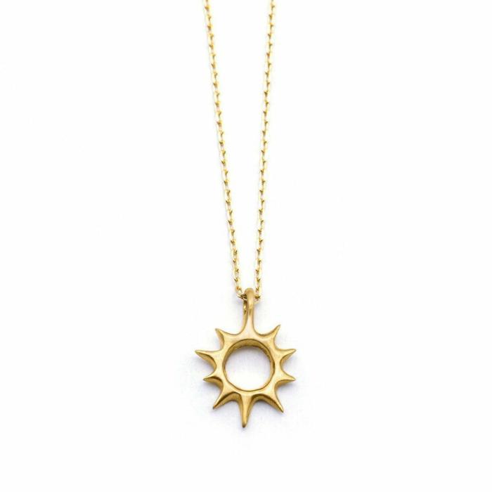 Gold Lani Sun Necklace | Ileava Jewelry