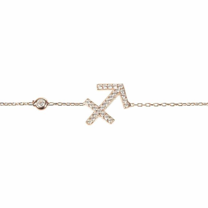 Sagittarius Zodiac Bracelet Rose Gold