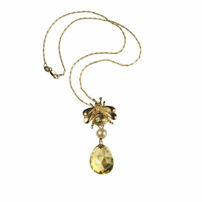 18kt Yellow Gold Bumblebee Necklace