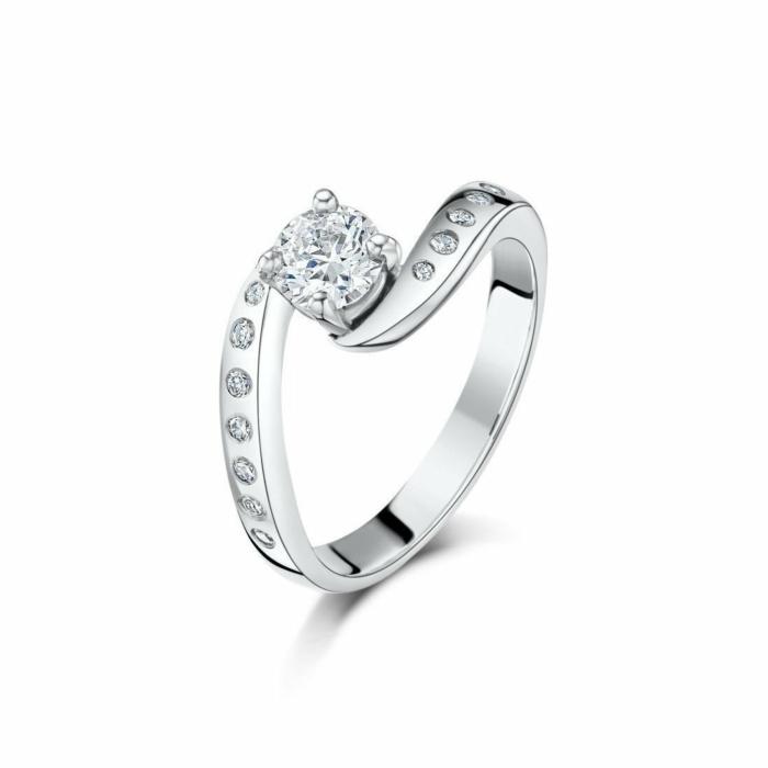 Palladium & Diamond Hummingbird Engagement Ring | Becky Rowe