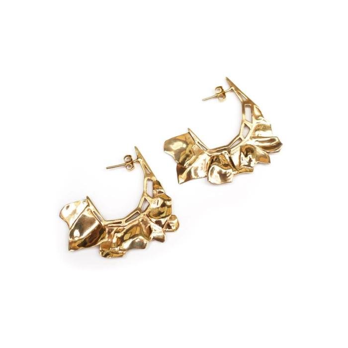 Yellow Gold Plated MARA Earrings