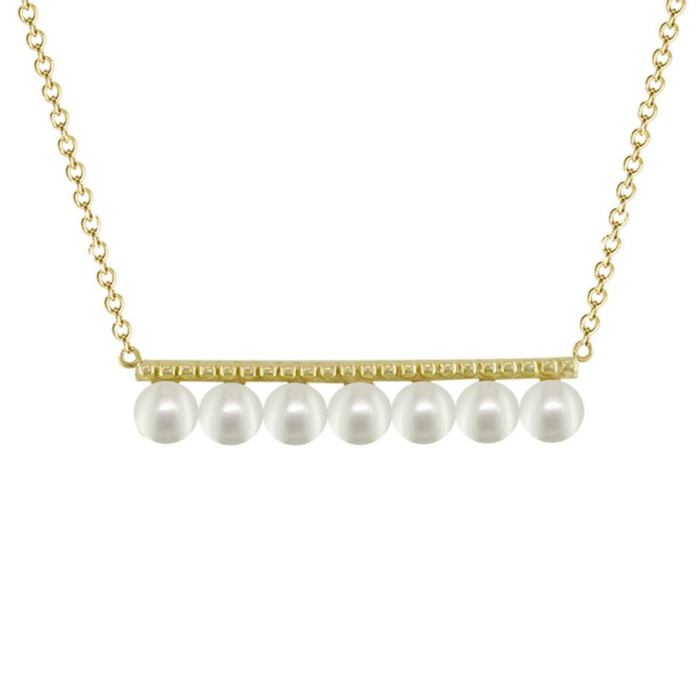 Burlington Yellow Gold Pearl Necklace