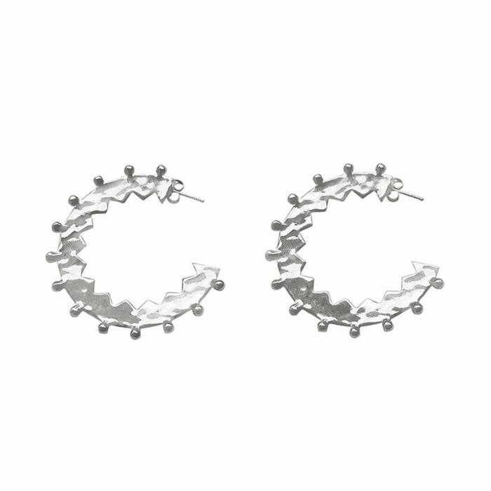 Sterling Silver Maya Large Hoop Earrings