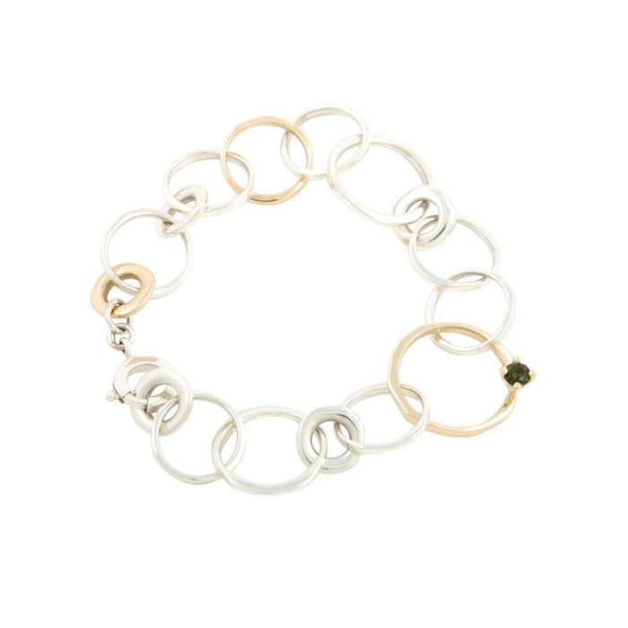 Silver & 9kt Yellow Gold Queen Bracelet