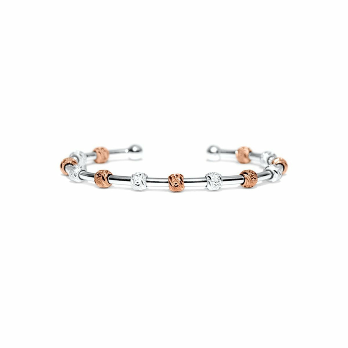 Laurel Silver and Rose Gold Two-Tone Bracelet
