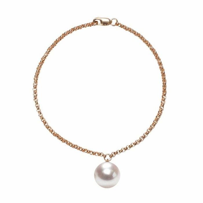 14kt Gold Alba White Pearl Bracelet