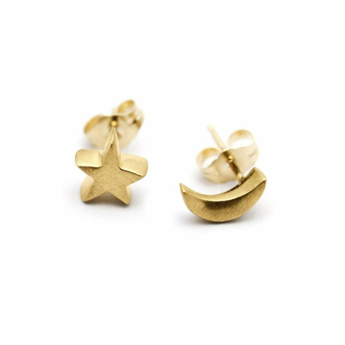 Gold Arabian Night Stud Earrings   Ileava Jewelry
