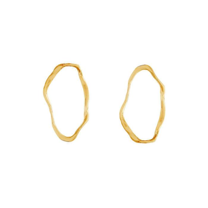 Ripple II Gold Earrings