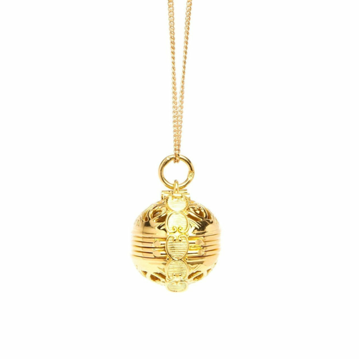 Yellow Gold Plated Memory Keeper Locket Necklace