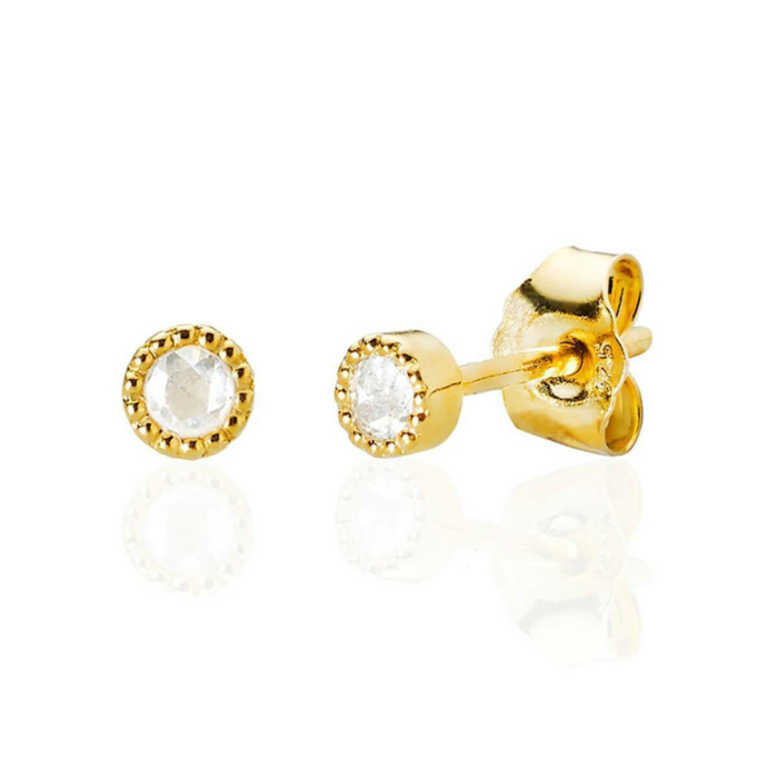 Bijou Diamond Earrings Gold