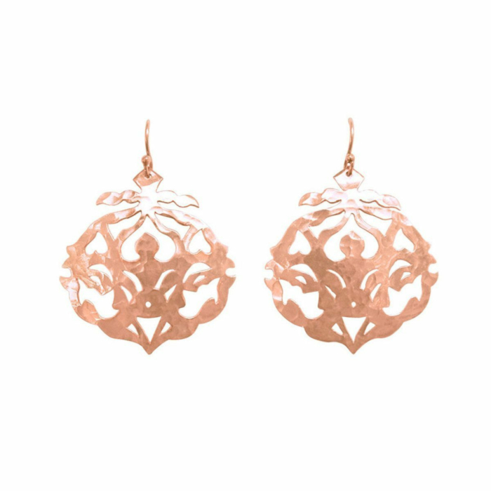 Rose Gold Andalusia Drop Earrings