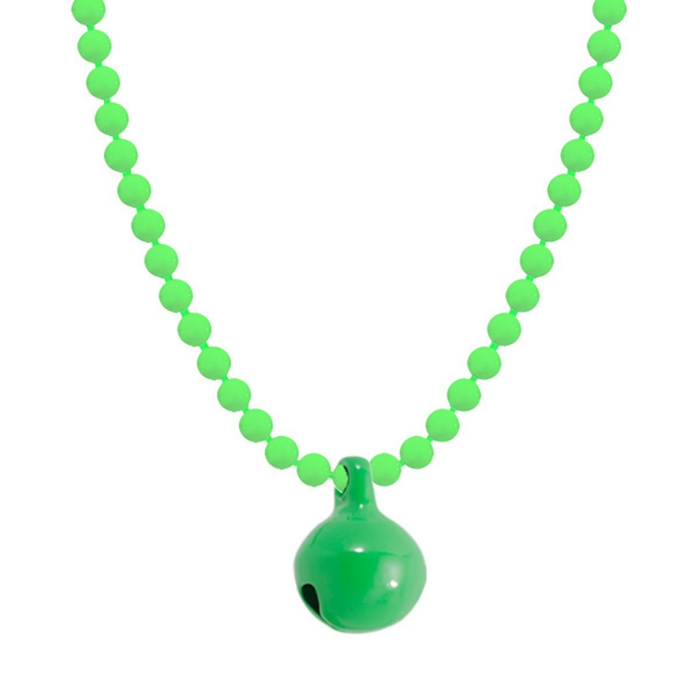 Allumette Neon Bell Necklace - Neon Green