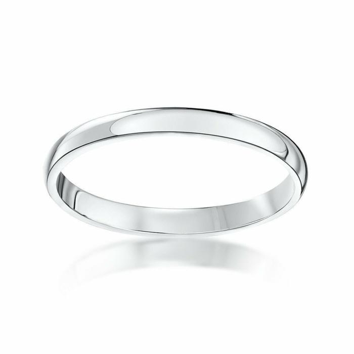 Platinum Heavy D-Shape Wedding Ring