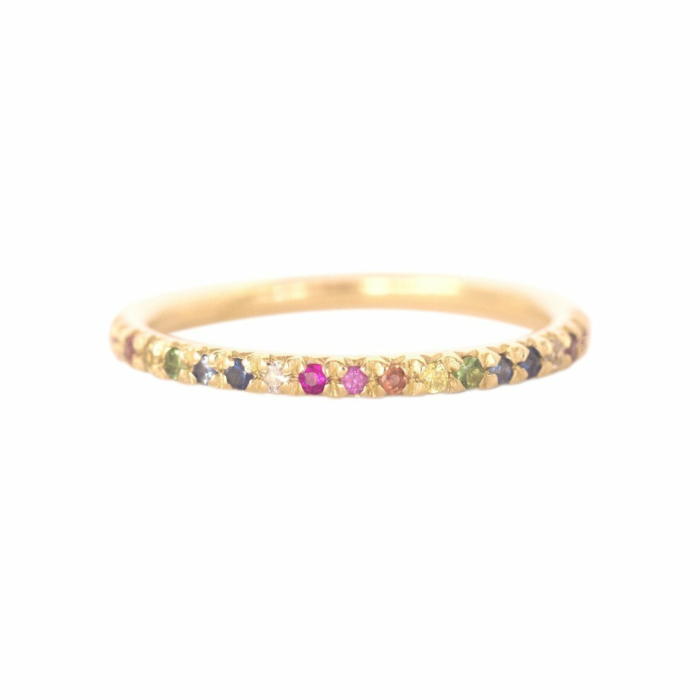 Gold & Rainbow Demi Pointe Ring