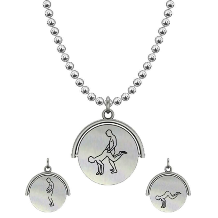 Allumersutra 13MM Silver Pendant Necklace - Boy And Boy - The Plough