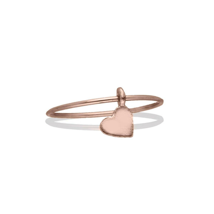 9kt Rose Gold Oro Rosa Cuore Ring