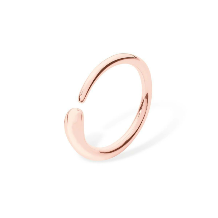 Open Single Drop Rose Gold Plated