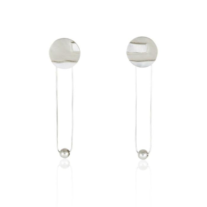 Mother Of Pearl Long Drop Earring