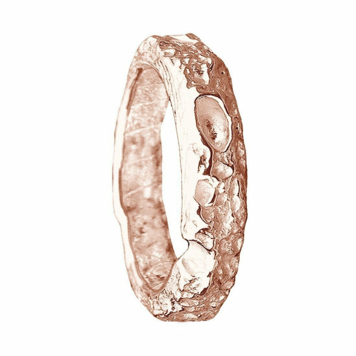 Cornish Beach Sand Textured 9kt Rose Gold Wedding Ring