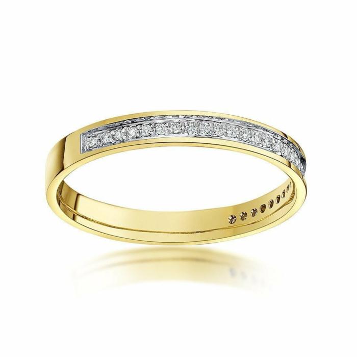 9kt Yellow Gold & Round Diamonds Eternity Wedding Ring