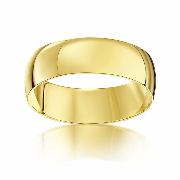 9kt Yellow Gold D-Shape Wedding Ring