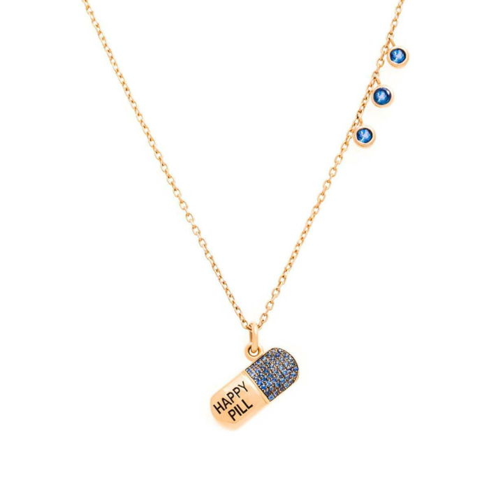 18kt Rose Gold Passion Pill Necklace