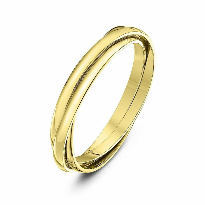 9kt Yellow Gold Russian Wedding Ring
