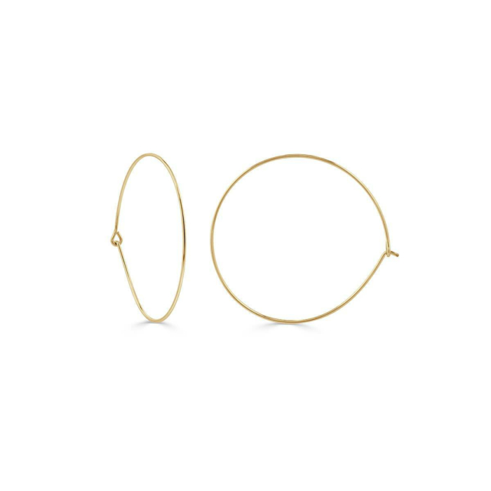 Yellow Gold Plated Essential Thin Hoops
