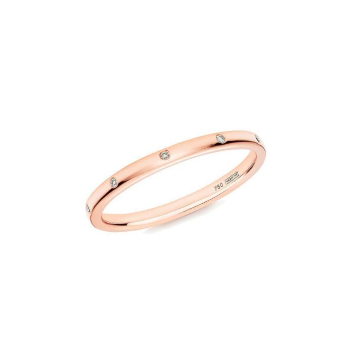10 Stone XV Diamond Ring In 18kt Rose Gold