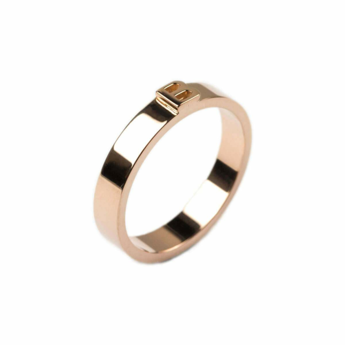 14kt Rose Gold Thin Character Ring